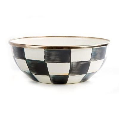 MacKenzie-Childs Courtly Check Enamel Everyday Bowl