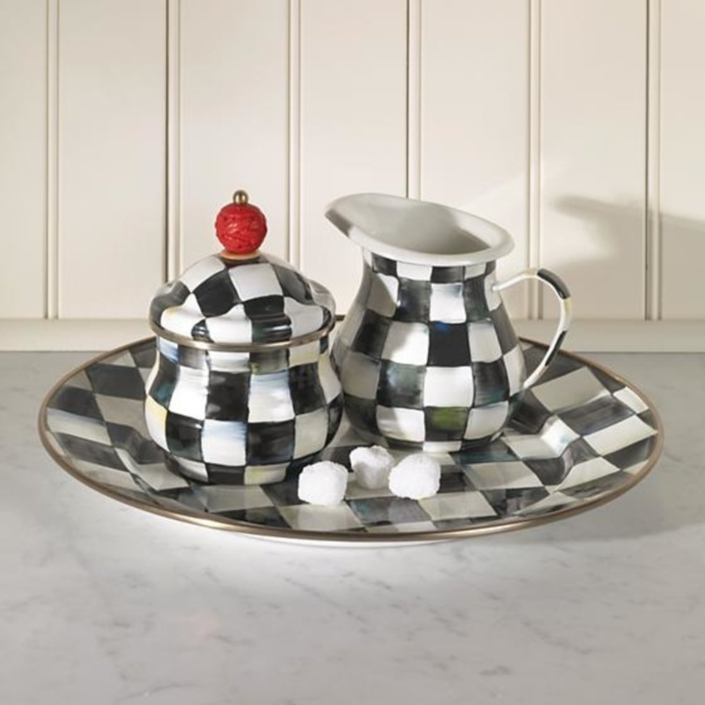 MacKenzie-Childs Courtly Check Enamel Charger/Plate
