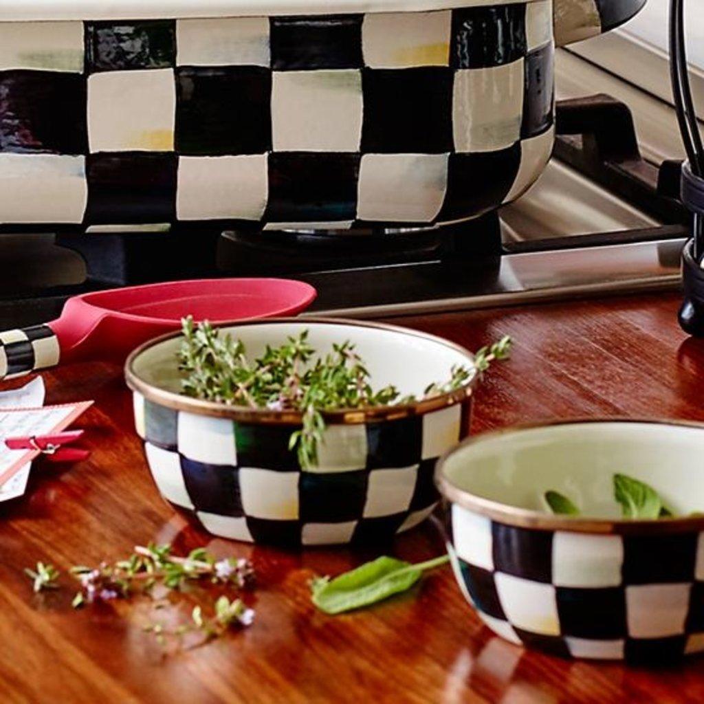 MacKenzie-Childs Courtly Check Enamel Pinch Bowl