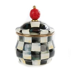 MacKenzie-Childs Courtly Check Enamel Lidded Sugar Bowl