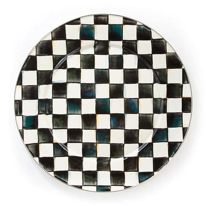 MacKenzie-Childs Courtly Check Enamel Serving Platter