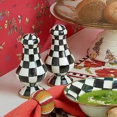 MacKenzie-Childs Courtly Check Enamel Large Salt & Pepper Shakers
