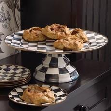 MacKenzie-Childs Courtly Check Enamel Pedestal Platter - Large
