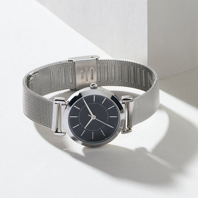 Bee Boutique Elegant Mesh Band Watch - Silver