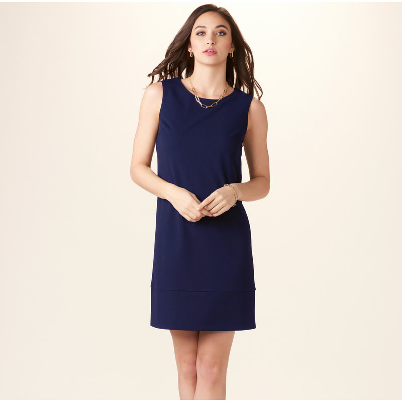 Bee Boutique Navy Blue Shift Dress