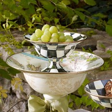 MacKenzie-Childs Courtly Check Enamel Compote - Small