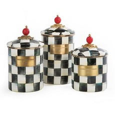 MacKenzie-Childs Courtly Check Enamel Canister - Large