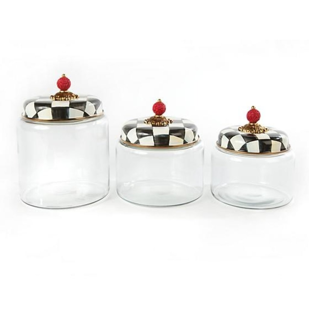 MacKenzie-Childs Courtly Check Kitchen Canister - Medium