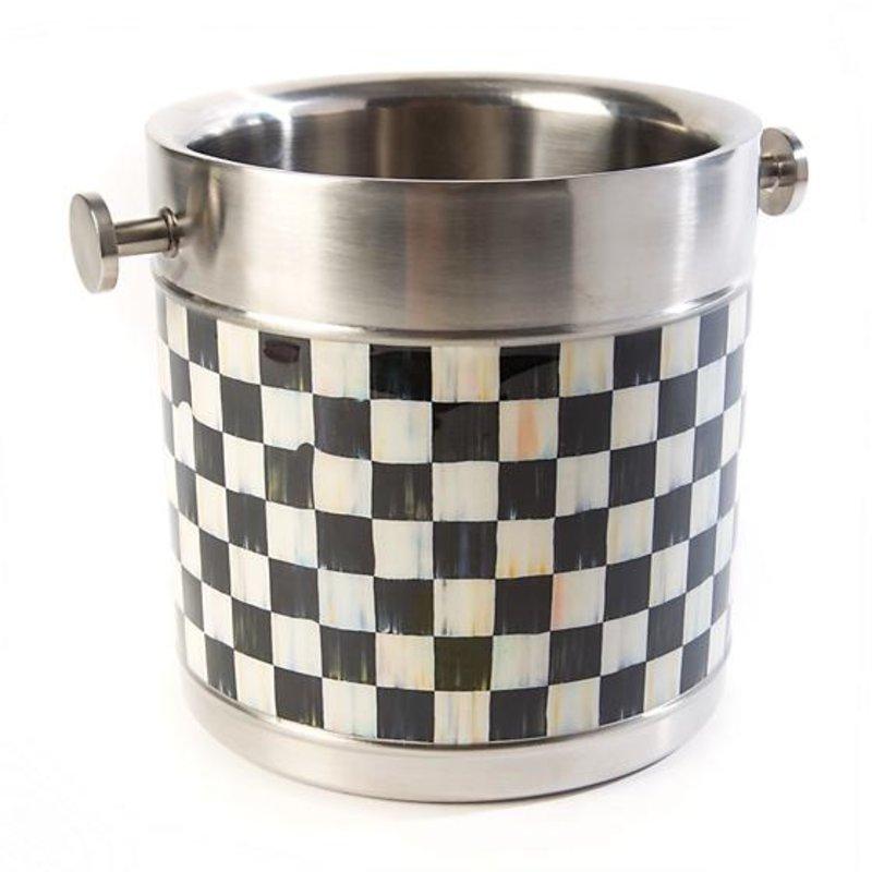 MacKenzie-Childs Ice Bucket - Courtly Check