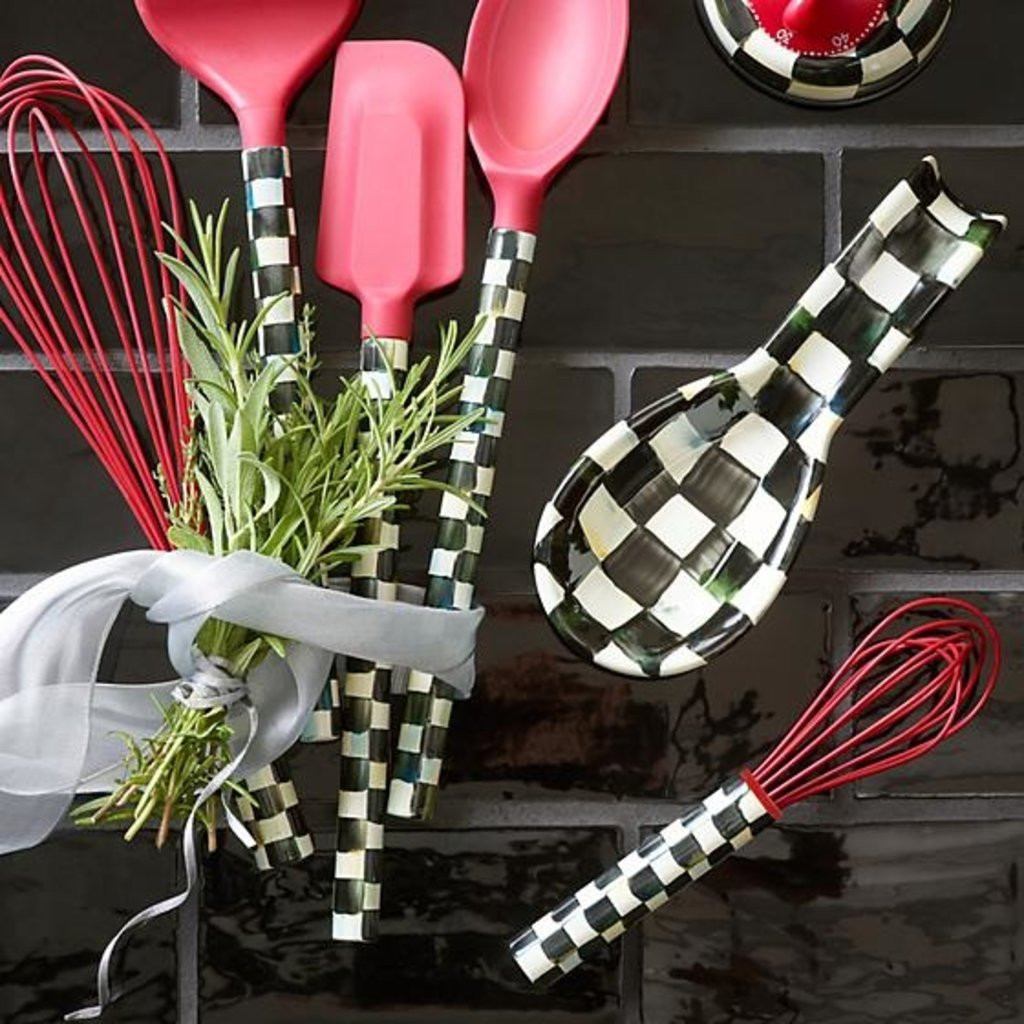 MacKenzie-Childs Courtly Check Small Whisk - Red
