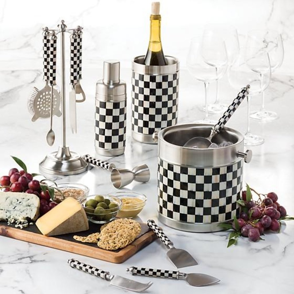 MacKenzie-Childs Supper Club Cheese Knife Set - Courtly Check
