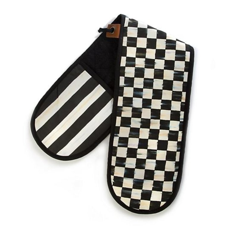MacKenzie-Childs Courtly Check Double Oven Mitt - Large