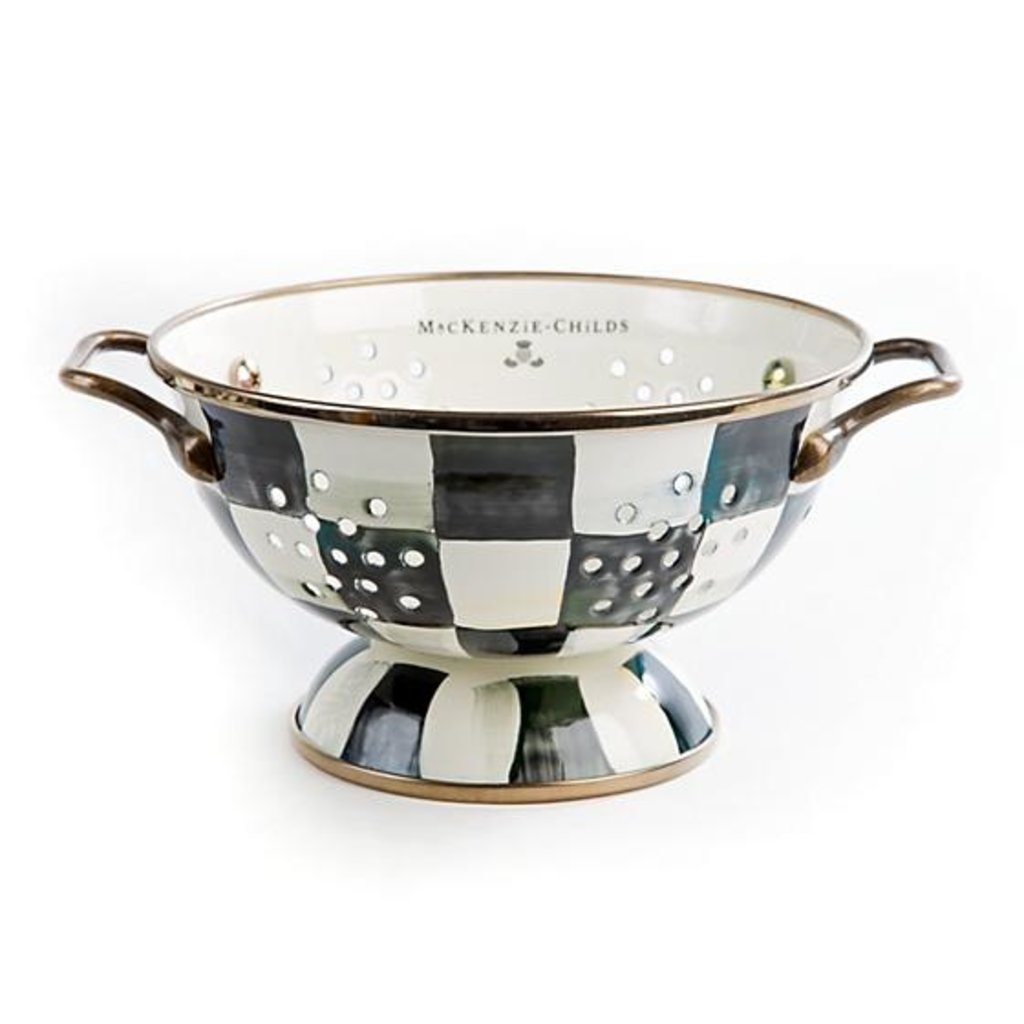 MacKenzie-Childs Courtly Check Enamel Colander - Small