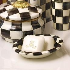 MacKenzie-Childs Courtly Check Enamel Soap Dish