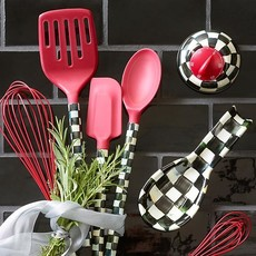 MacKenzie-Childs Courtly Check Spoon - Red