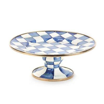 MacKenzie-Childs Royal Check Pedestal Platter - Small