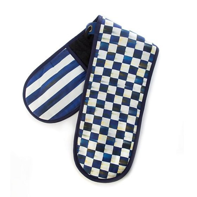 MacKenzie-Childs Royal Check Double Oven Mitt - Large