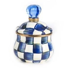 MacKenzie-Childs Royal Check Lidded Sugar Bowl
