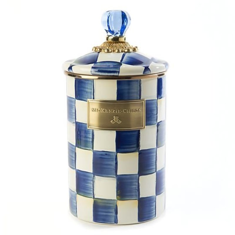 MacKenzie-Childs Royal Check Canister - Large