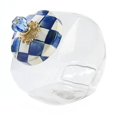 MacKenzie-Childs Cookie Jar with Royal Check Lid