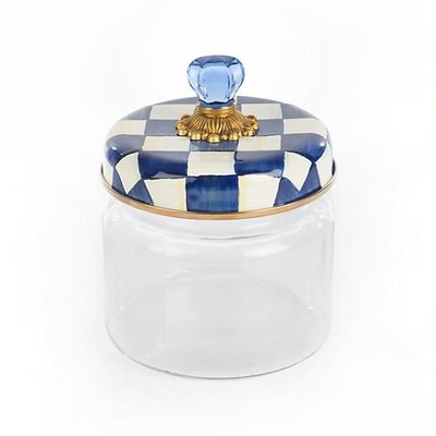 MacKenzie-Childs Royal Check Kitchen Canister - Small