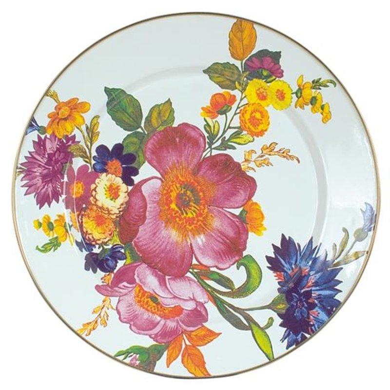 MacKenzie-Childs Flower Market Charger/Plate - White