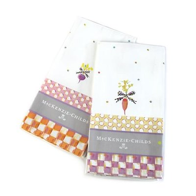 MacKenzie-Childs Dotty Veggie Dish Towels - Set of 2