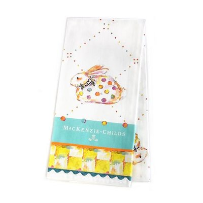 MacKenzie-Childs Dotty Bunny Dish Towel