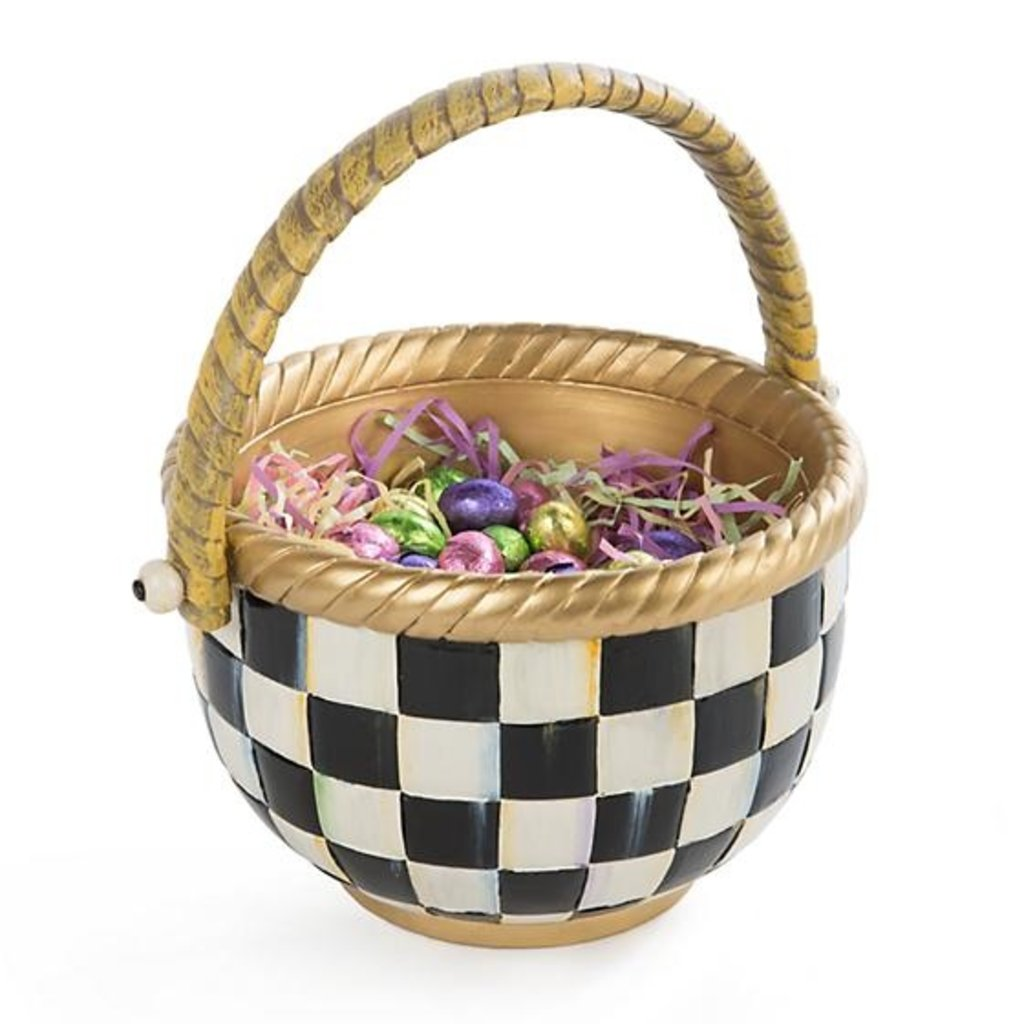 MacKenzie-Childs Courtly Check Basket - Large