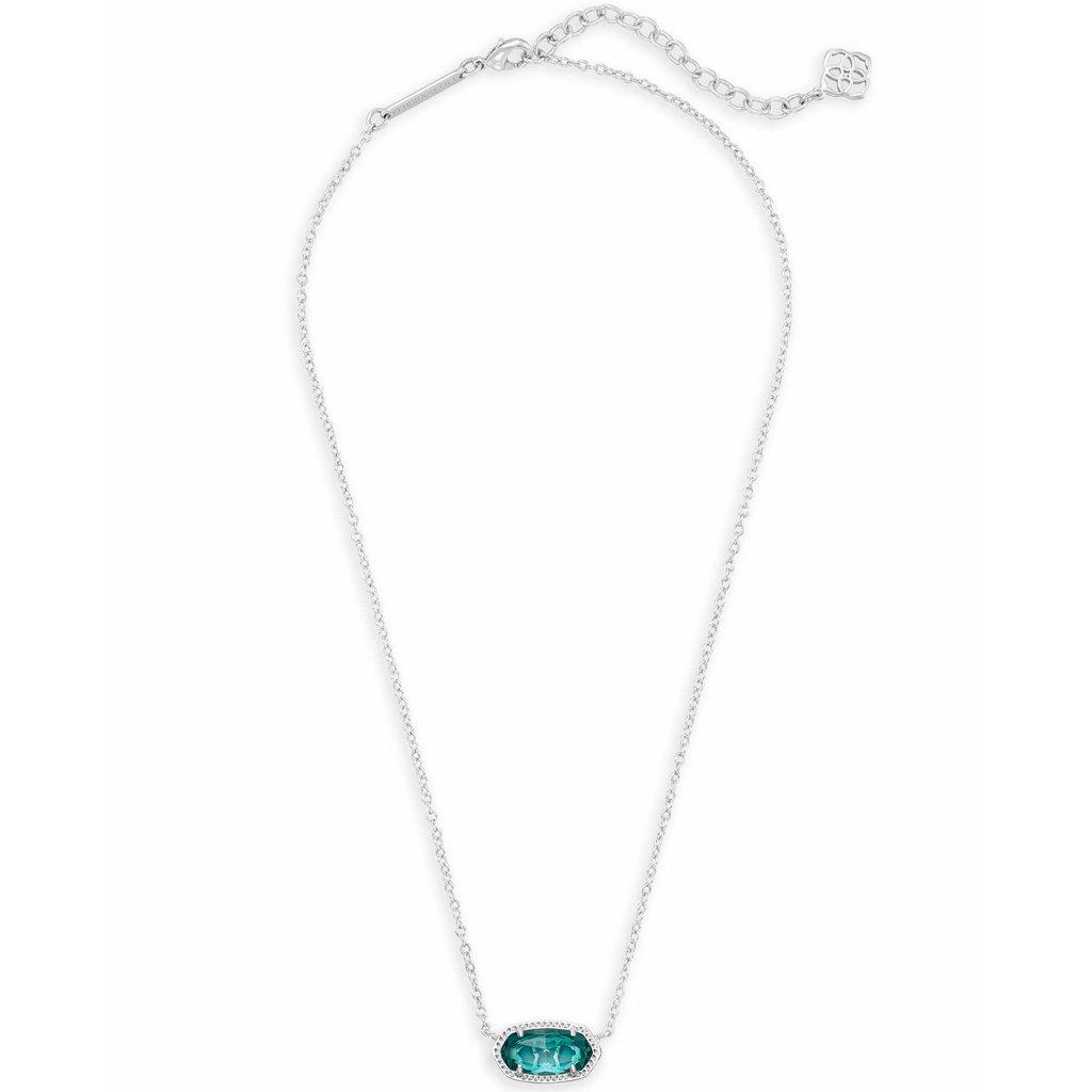 Kendra Scott Elisa Silver Pendant Necklace In London Blue