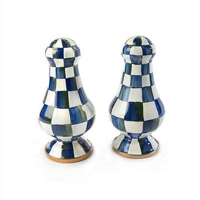 MacKenzie-Childs Royal Check Large Salt & Pepper Shakers