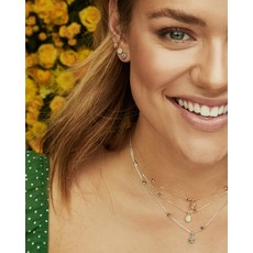 Kendra Scott Nola Stud Earring Rhodium Platinum Drusy