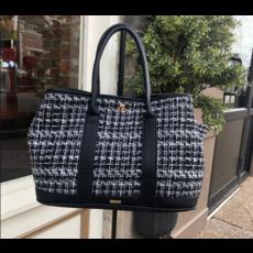 Black & White Tweed Handbag