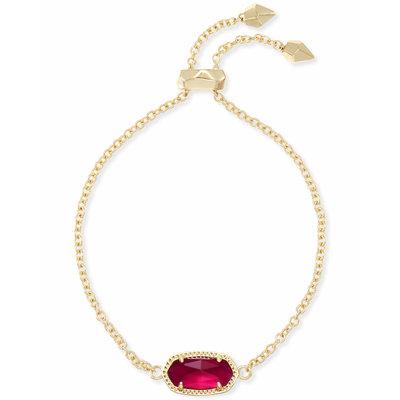 Kendra Scott Elaina Adjustable Chain Bracelet In Berry Illusion