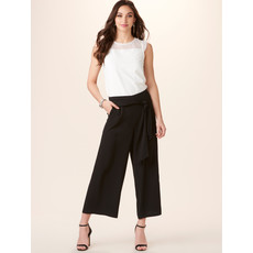 Bee Boutique Black Tie Waist Pants