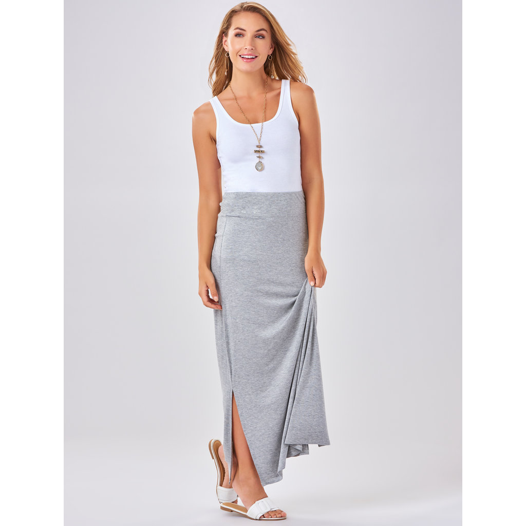 Bee Boutique Heather Gray Maxi Skirt