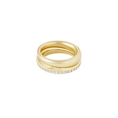 Kendra Scott Colette Ring Set Of 2 In Gold - 7