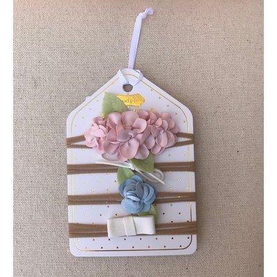 Little Bees Garden Rose Mini Bow Set