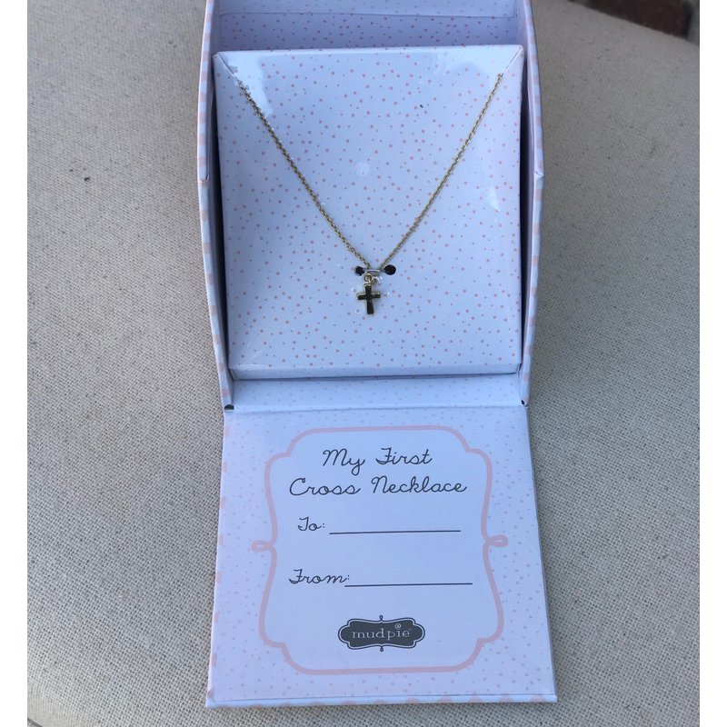 Little Bees My First Cross Necklace in Gold