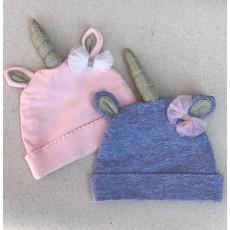 Little Bees Pink Unicorn Newborn Hat
