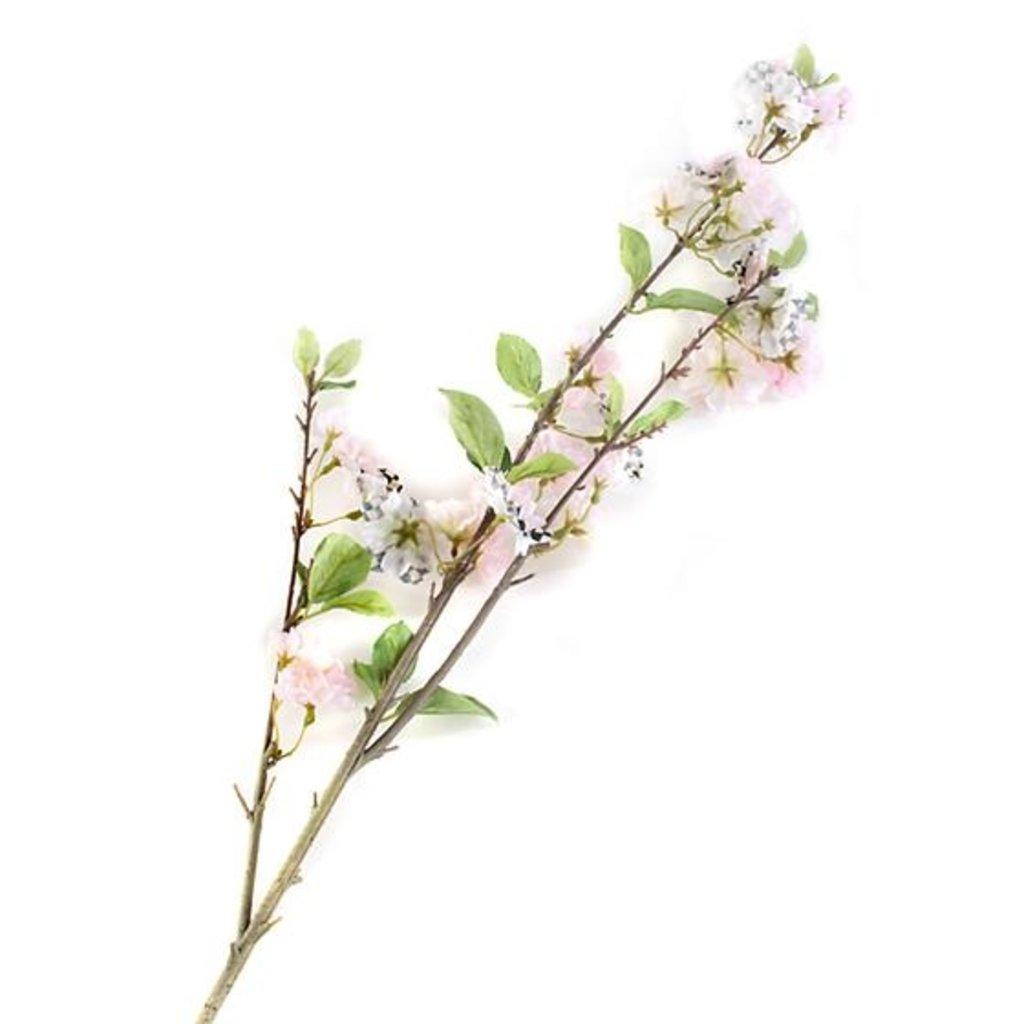 MacKenzie-Childs Courtly Check Cherry Blossom Spray - White
