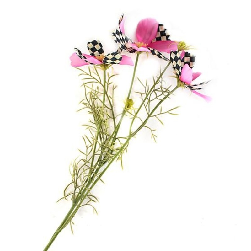 MacKenzie-Childs Courtly Check Cosmos Spray - Pink