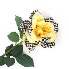 MacKenzie-Childs Courtly Check Rose - Yellow