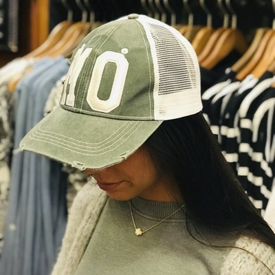 Southbank's MO Distressed Trucker Hat