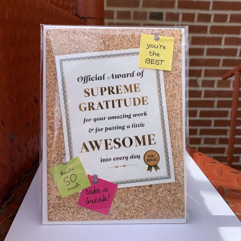 Papyrus Supreme Gratitude Award Card