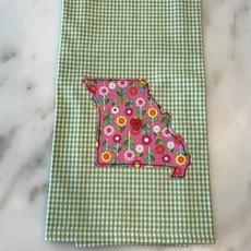 Southbank's Green Checked - Where the Heart Is Dishtowel