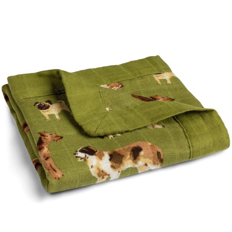Little Bees Green Dog - Mini Lovey