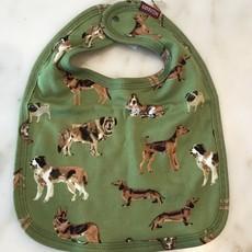 Little Bees Green Dog - Traditional Bib