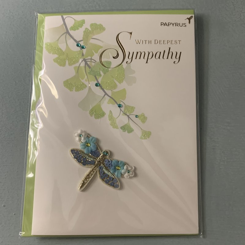 Papyrus Floral Dragonfly Card