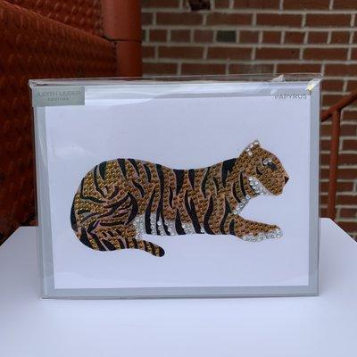 Papyrus Tiger Rhinestone Card